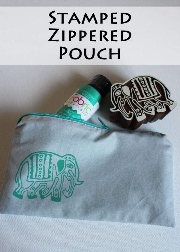 Stamped Zippered Pouch