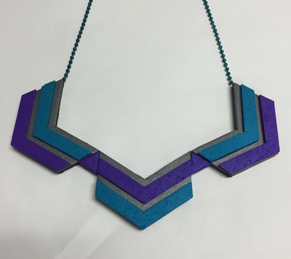 Sculpey Chevron Necklace