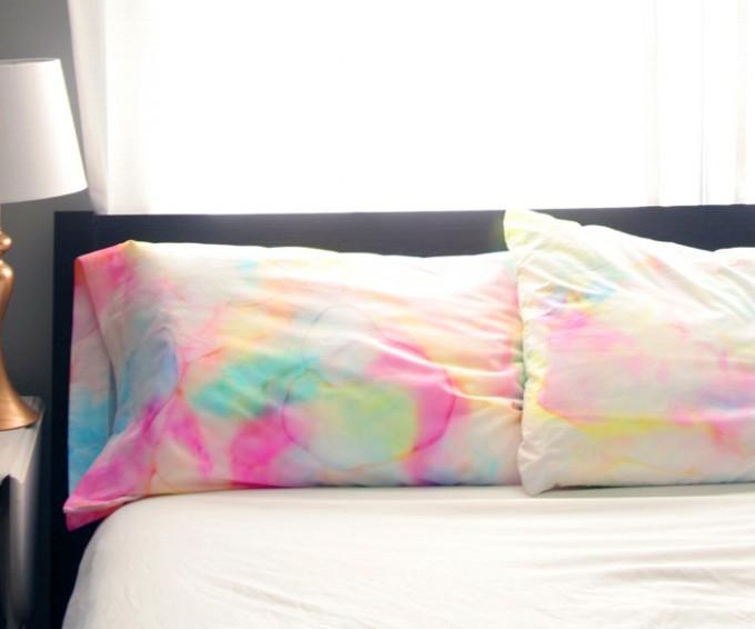 Watercolor Sharpie Pillowcases