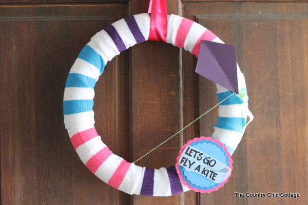 Fly a Kite Spring Wreath