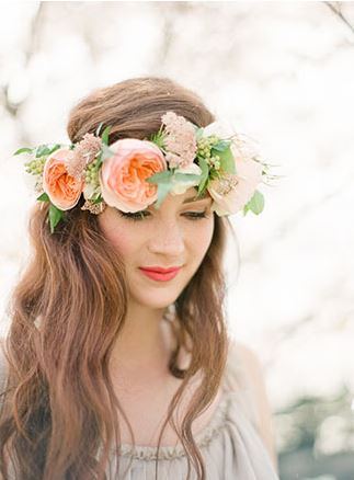 Floral Fresh Wedding Crown