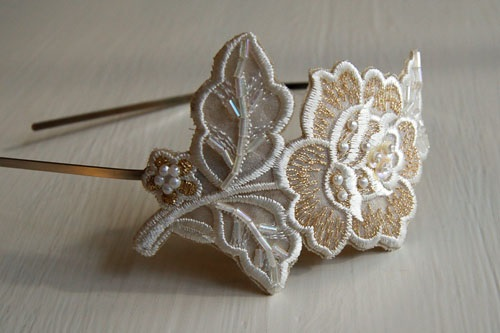 Gatsby Flower Appliqued Headband