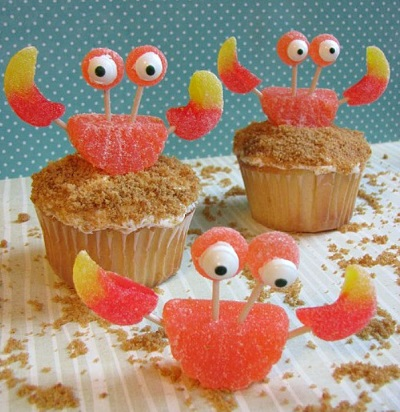 The Cutest Crab Cupcakes Ever