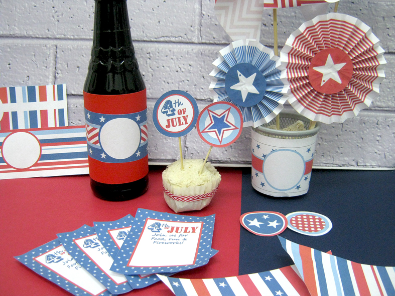 4th of july party pack printable (3)