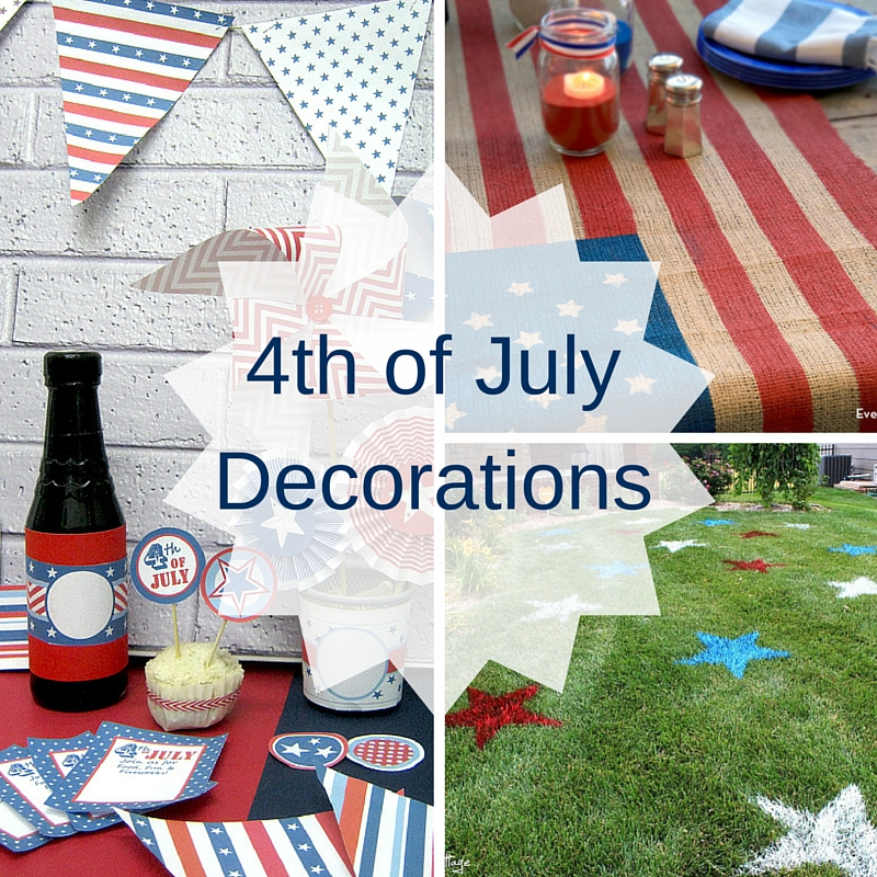 4th of july party decorations craft paper scissors for Decoration 4 july