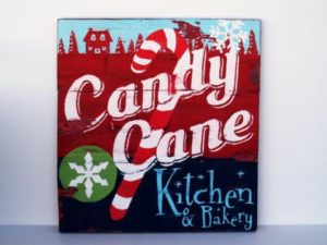 Candy Cane Kitchen Sign