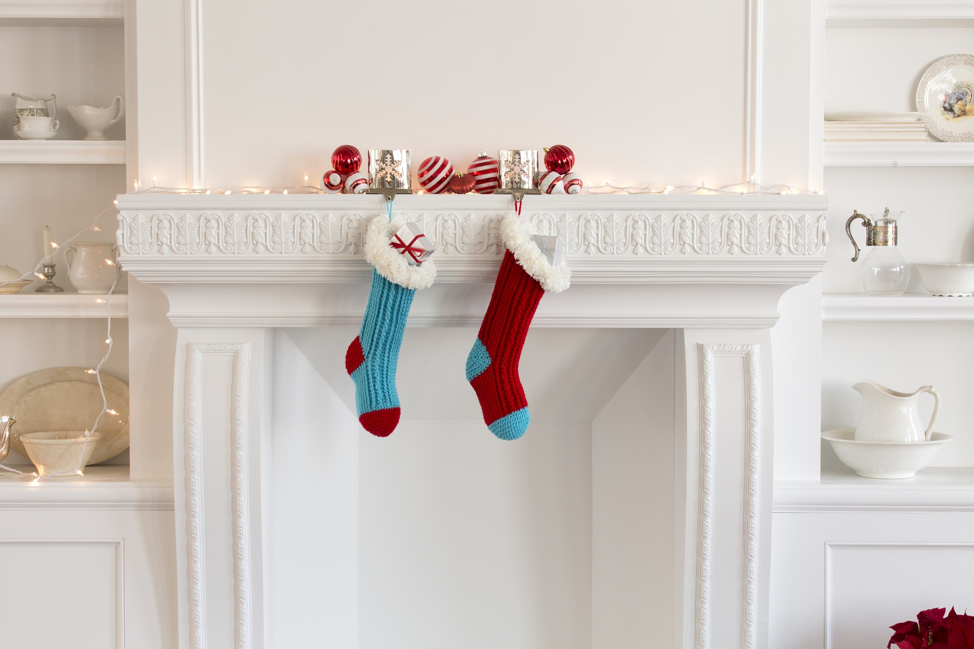 Fur Top Holiday Stockings Pattern Red Heart Giveaway