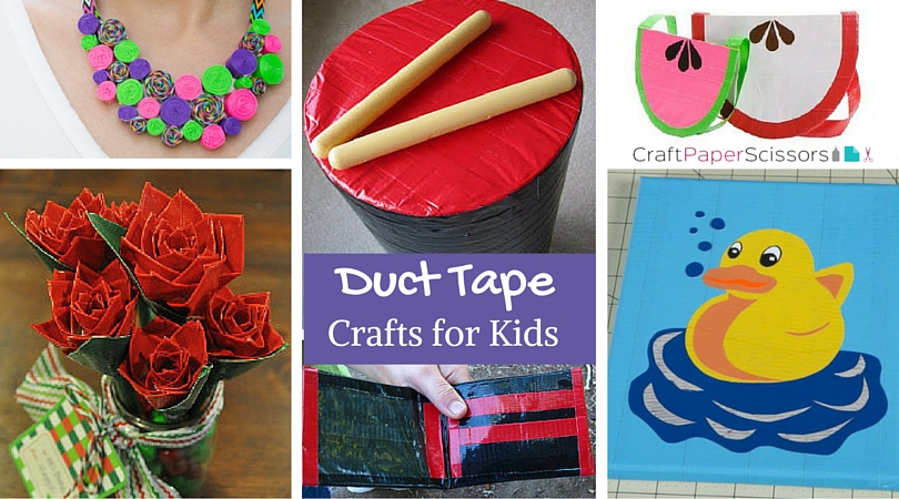 Beautiful Duct Tape Craft Ideas For Kids Part - 5: Duct Tape Crafts For Kids -CPS Image