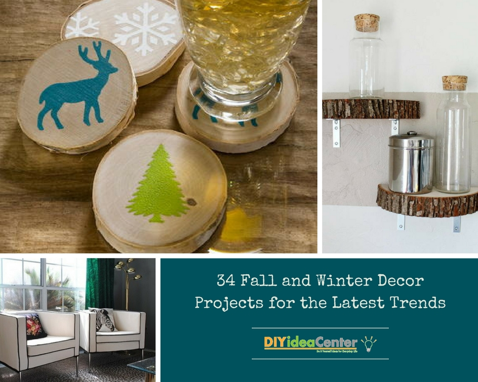 34 fall and winter decor projects for the latest trends Diy home decor trends 2016