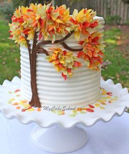 10 beautiful fall wedding cakes craft paper scissors autumn leaves wedding cake designs junglespirit Choice Image