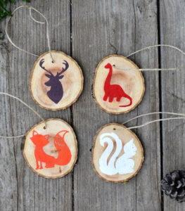 Woodland Creature DIY Christmas Ornaments