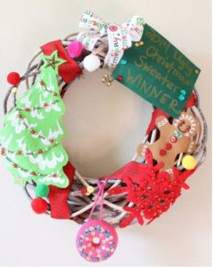 Ugly Christmas Sweater Wreath