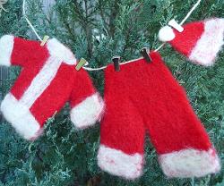 Santa's Laundry Line Ornament