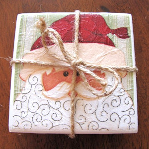 Handmade Coasters for Christmas