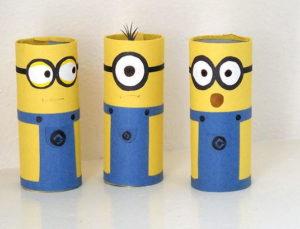 Cardboard Tube Minion Crafts