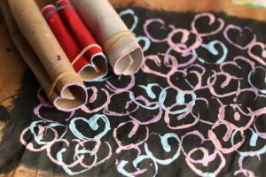 Paper Heart Stamp Art