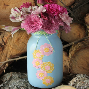 Country Charm Mason Jar Vase