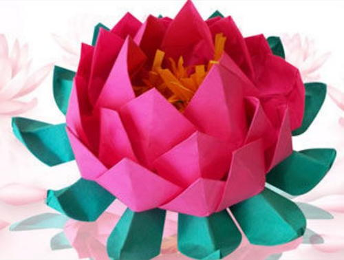 Unique and Easy Origami Lotus