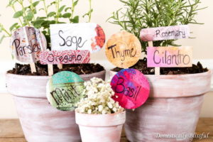 Anthropologie-Inspired DIY Garden Markers