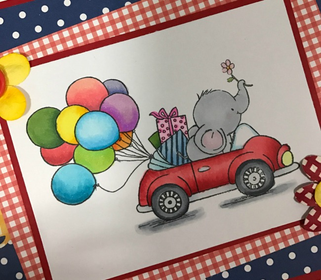 Handmade Elephant Birthday Card Craft Paper Scissors