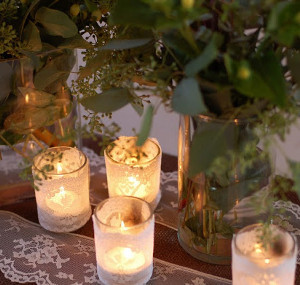 Elegantly Simple Lace Votives