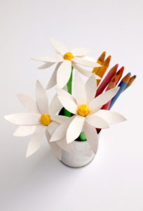 Beautiful Duct Tape Flower Pen