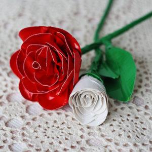Realistic Duct Tape DIY Rose