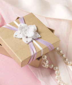 Flowered Wedding Favor Box