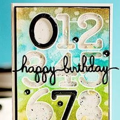 Masculine Shaker Handmade Birthday Card