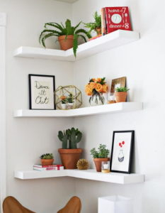 Amazing DIY Floating Corner Shelves