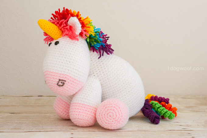 Rainbow Cuddles Crechet Unicorn