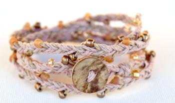 Beaded Hemp Wrap Bracelet