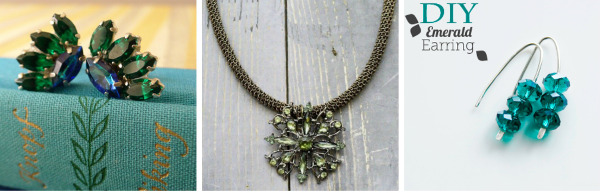 DIY Jewelry in Jewel Tones: Emerald