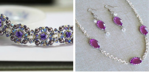 DIY Jewelry in Jewel Tones: Violet