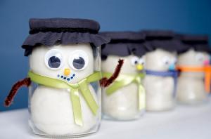 Snowman Playdough Jar
