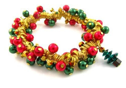 Gold Wrapped Christmas Bracelet