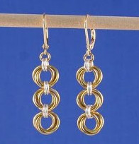 Tri-Mobius Chainmaille Earrings