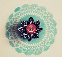 Easy Fabric Flower Brooch