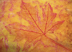 Awesome Autumn Leaf Rubbing Mural