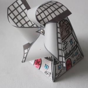 Adorable Printable Dutch Windmill