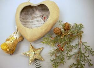Mixed Media Heart Ornament