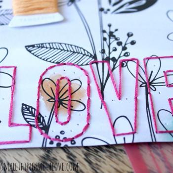 Hand Stitching on Paper Crafts