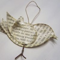 Recycled Bird Ornament