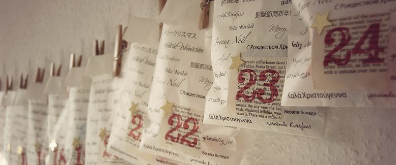 Recycled Book Pages Advent Calendar