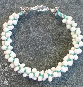 Stylish Seed Beaded Kumihimo Bracelet