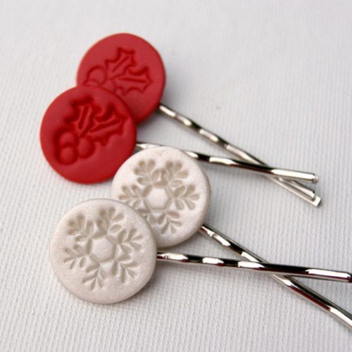 Jolly Polymer Clay Hair Pins