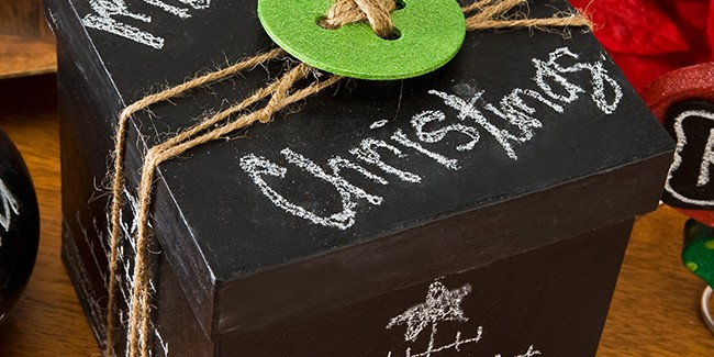 Chalkboard Paint Gift Box