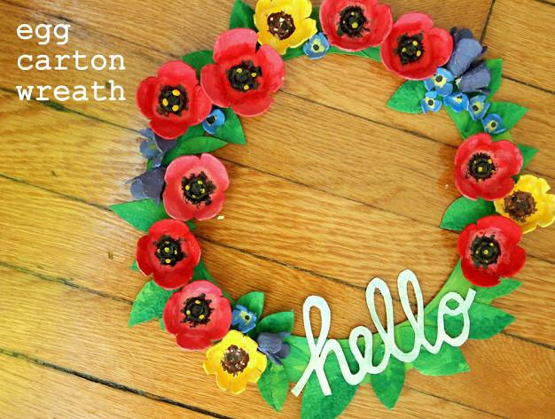 Hello Gorgeous Recycled Wreath