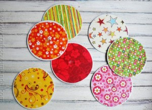 Upcycled CD Coasters