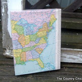 map pic decor